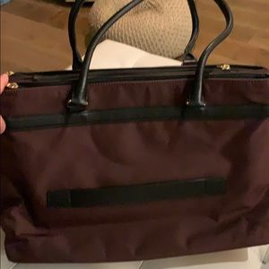 Tumi Bags - Tumi travel briefcase in garnet and black leather